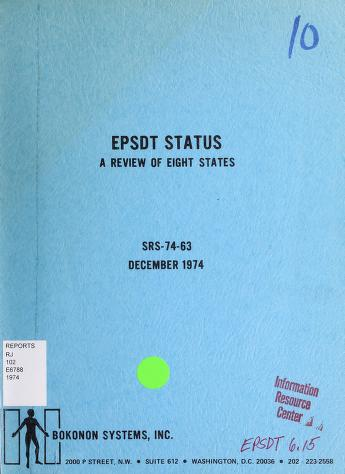 Cover of: EPSDT status | United States. Social and Rehabilitation Service